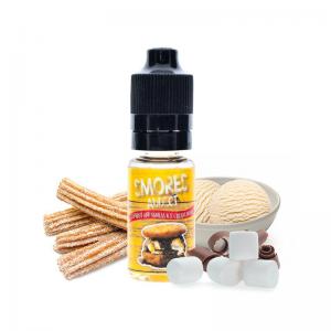 aroma smores addict churros and vanilla ice cream